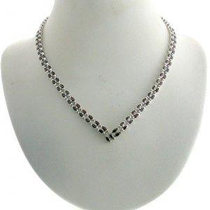 #201.  925 Silver with Genuine Garnet Necklace