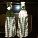 Crocheted Top- Kitchen Towel Set