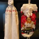 Chef-Crocheted Top- Kitchen Towel Set