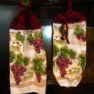 Crocheted Top- Kitchen Towel & Bag Holder