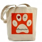 Orange I Love My Affenpinscher Tote Bag