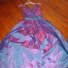 Blue Purple Ball Gown Prom Dress sz 3/4 juniors