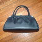 Vintage Train Case 1940's handbag black