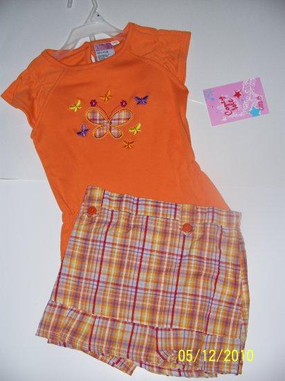 Orange Plaid Skort Set size 4