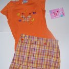 Orange Plaid Skort Set size 4