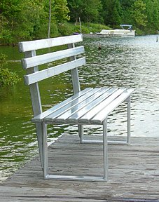Pro-Step ProStep 6 Foot Aluminum Bench for Boat Docks, Parks, Lawns