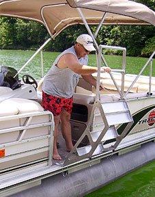 Pontoon Boat Retractable Ladder ProStep Pro-Step Tooner II