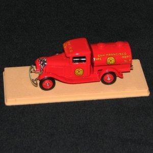 Eligor 1:43 1934 Ford San Francisco Fire Dept. No.7 Pumper
