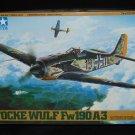 Tamiya 1:48 Focke Wulf Fw190 A-3 Kit No 61037