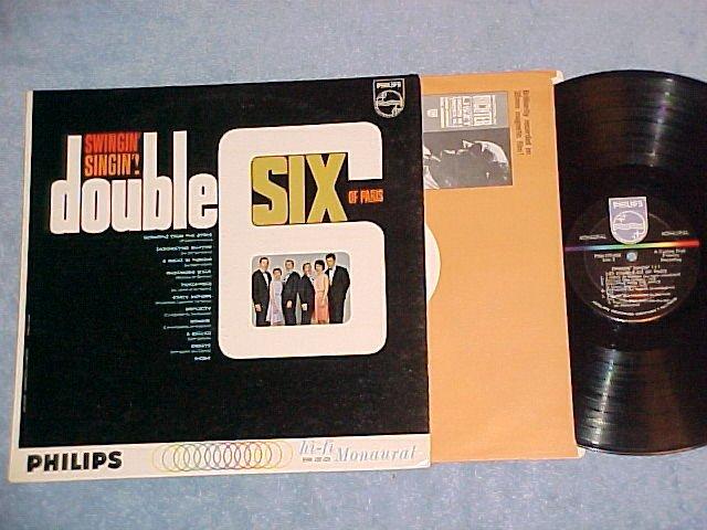 DOUBLE SIX OF PARIS-SWINGIN' SINGIN'!-NM/VG+ Philips LP