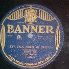 78-BUZZIN BOB (IRVING KAUFMAN)-LET'S TALK..-Banner 1736