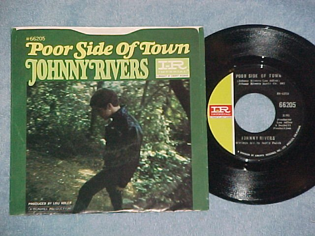 NM/VG++ 45w/PS-JOHNNY RIVERS-POOR SIDE OF TOWN-Imperial