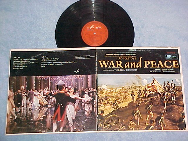 WAR AND PEACE (Russian Film)--NM/VG++ 1968 LP--Capitol