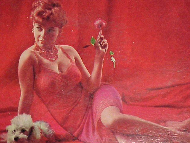ABBE LANE-THE LADY IN RED-1958 RCA LP ~Sexy Cheesecake~