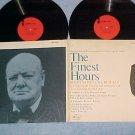 THE FINEST HOURS--NM Stereo Winston Churchil Sdk Dbl LP