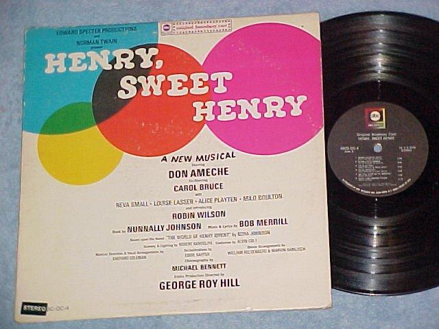 HENRY, SWEET HENRY--VG+ Stereo 1967 Broadway Sdk LP