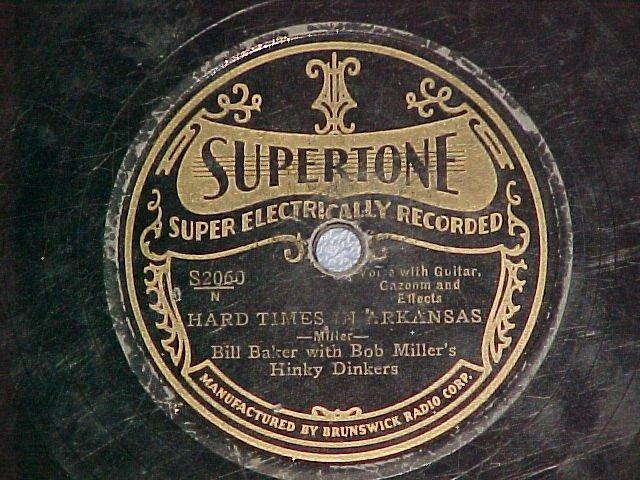 78-BOB MILLER w/HIS HINKY DINKERS-1929--Supertone S2060