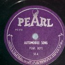 78--PEARL BOYS--AUTOMOBILE SONG--c. 1946--Pearl 56--NM