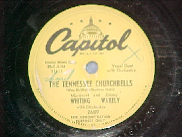 Promo 78--MARGARET WHITING & JIMMY WAKELY--Capitol 2689