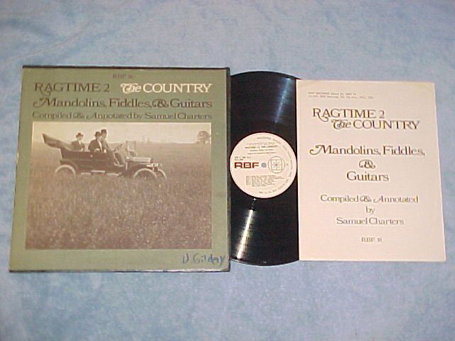 RAGTIME 2--THE COUNTRY--1971 cmpltn LP w/Insert--RBF 18
