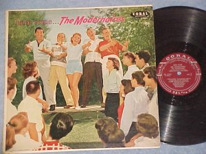 HERE COME THE MODERNAIRES--s/t VG+ 1957 LP--Coral 57140