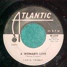 45-CARLA THOMAS-A WOMAN'S LOVE--1964-Atlantic--WL Promo