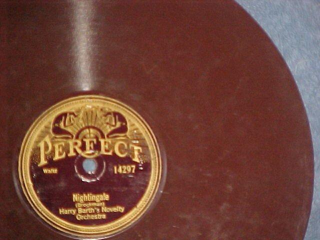 Brown Wax 78--HARRY BARTH/MAX TERR--1924--Perfect 14297
