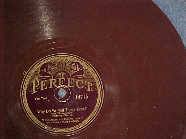 Brown Wax 78-WILLIE CREAGER/LOU GOLD-1926-Perfect 14715