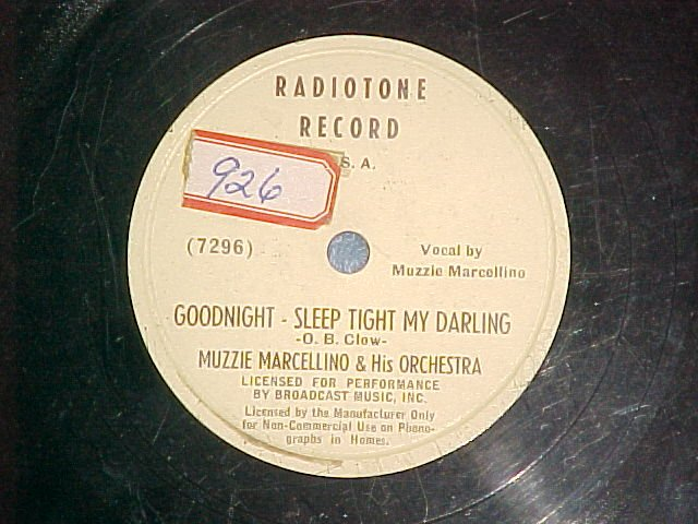 78-MUZZIE MARCELLINO--GOODNIGHT--SLEEP TIGHT MY DARLING