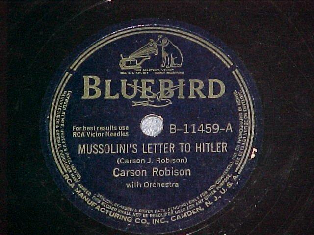 78-CARSON ROBISON-MUSSOLINI'S LETTER TO HITLER-Bluebird