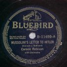 78-CARSON ROBISON-MUSSOLINI'S LETTER TO HITLER-Bluebird