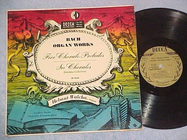 HELMUT WALCHA-BACH ORGAN WORKS-NM/VG 1951 LP-Decca 9569