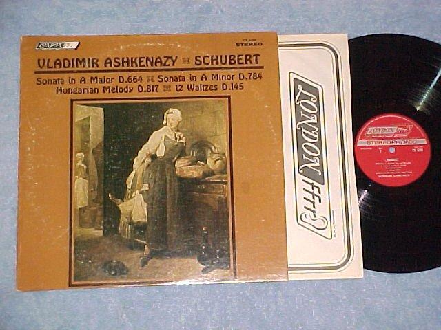 Vladimir Ashkenazy-Schubert Piano Music--London ffrr LP