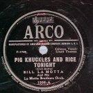 78-BILL LA MOTTA-PIG KNUCKLES AND RICE TONIGHT-'49-Arco