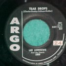 45-LEE ANDREWS & HEARTS-TEAR DROPS-1957-Argo 1000--VG++