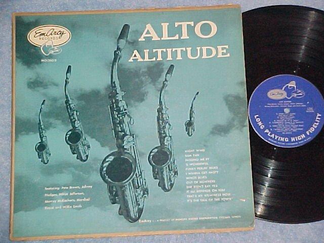 ALTO ALTITUDE-1955 Alto Sax Cmpltn LP--EmArcy Blue back
