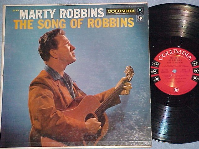 MARTY ROBBINS--THE SONG OF ROBBINS--VG+ 1957 LP--6-eye