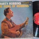 MARTY ROBBINS--THE SONG OF ROBBINS--VG+ 1957 LP--6-eye
