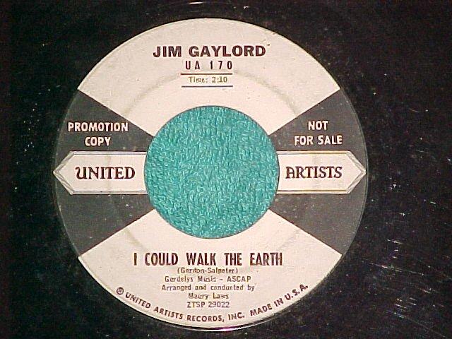 45-JIM GAYLORD-I APOLOGIZE-United Artists 170--WL Promo