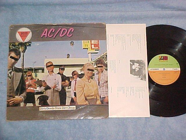 AC/DC--DIRTY DEEDS DONE CHEAP--NM/VG UK LP--Atl K-50323