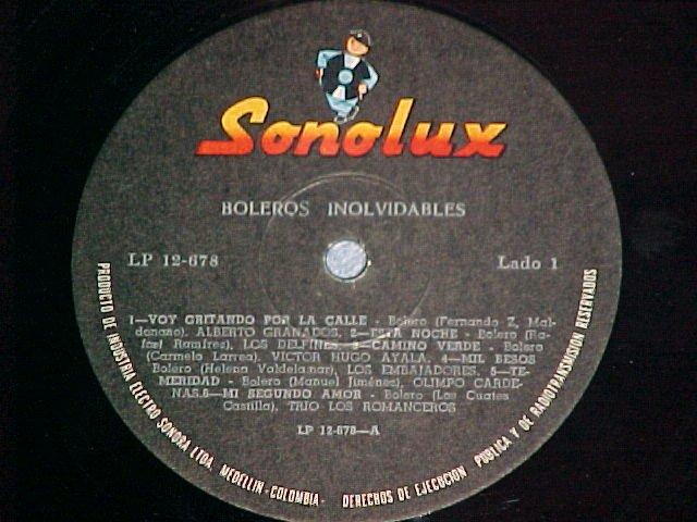 Colombia LP on Sonolux--BOLEROS INOLVIDABLES~Cheesecake