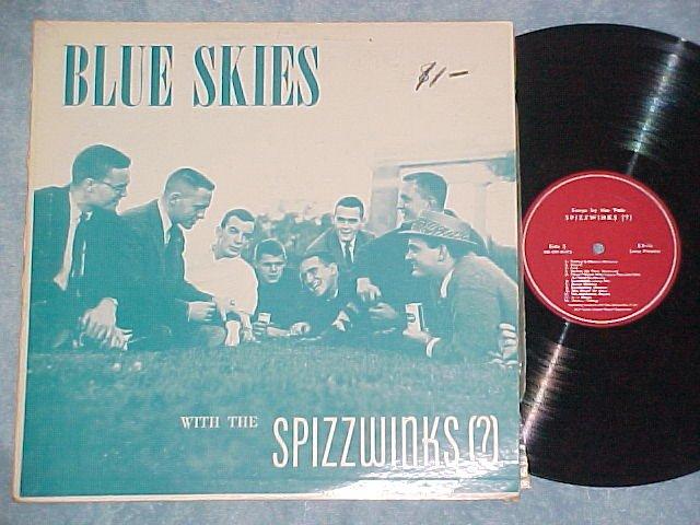 YALE SPIZZWINKS (?) '57--BLUE SKIES--NM/VG+ 1957 LP