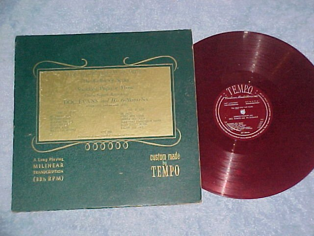 DOC EVANS & HIS 6-ALARM-SIX--Tempo MTT-2066--Red Vinyl