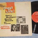 I WANT TO LIVE!--Special Mono 1958 Jazz Edition Sdk LP