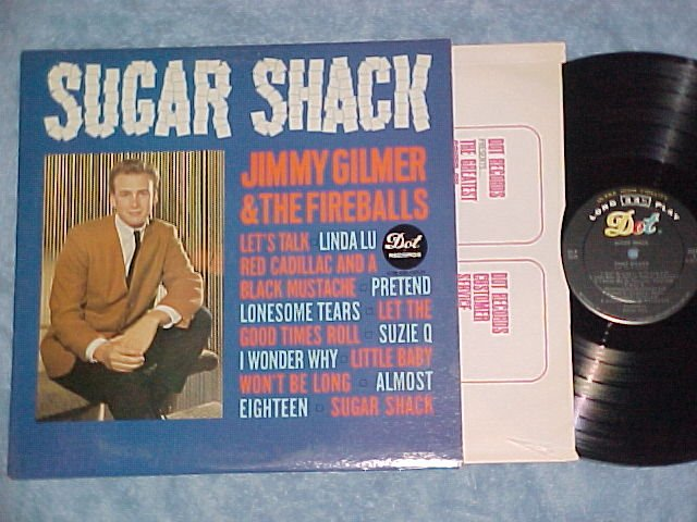 JIMMY GILMER AND THE FIREBALLS--SUGAR SHACK--NM 1963 LP