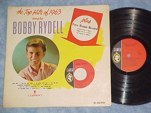 BOBBY RYDELL-TOP HITS OF 1963-LP w/Bonus 45 rpm Record