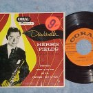 EP w/PS-HERBIE FIELDS--DARDANELLA--1953--Coral--NM/VG++