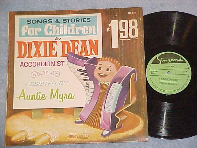 Accordion LP--DIXIE DEAN--SONGS FOR CHILDREN--Zondervan