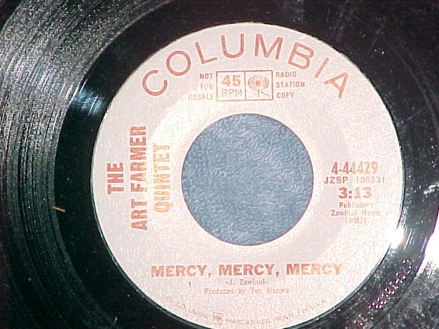45-ART FARMER QUINTET-MERCY,MERCY,MERCY-'68-WL Promo-NM