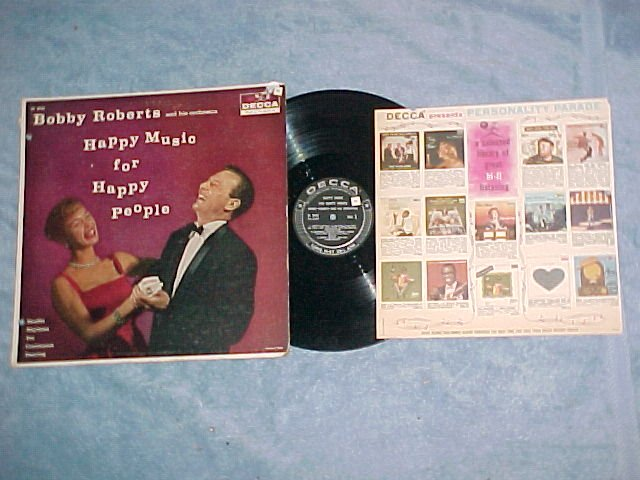 BOBBY ROBERTS-HAPPY MUSIC FOR HAPPY PEOPLE-LP/Ad Insert